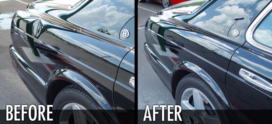 Bentley Rear Fender Dent Removal