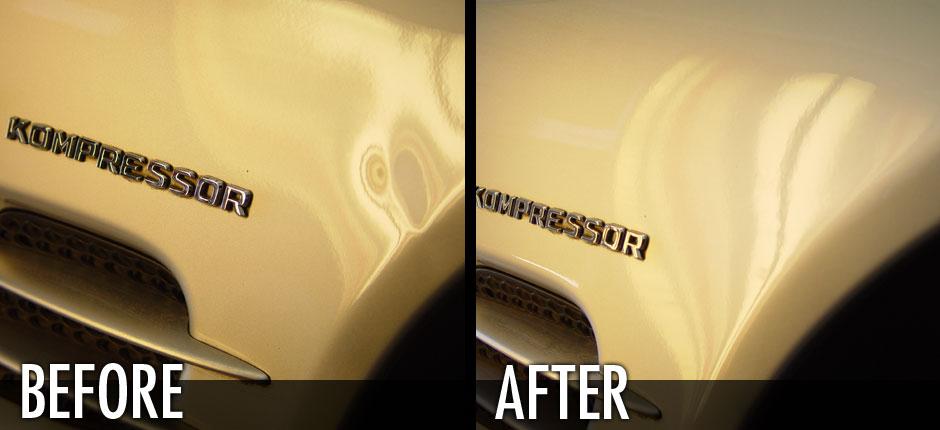 Mercedes Benz Fender Ding Removed