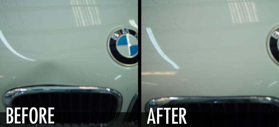BMW Hood Dent Removed