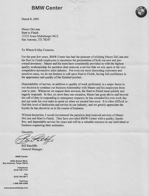 BMW Center Testimonial