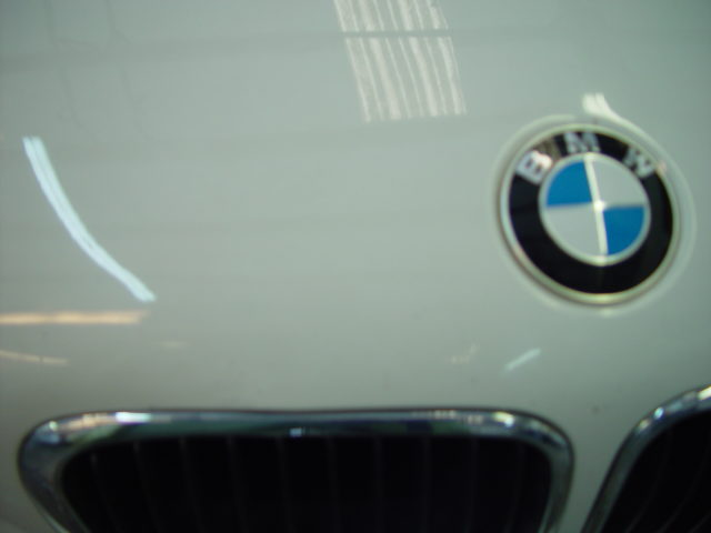 White BMW Dent Removed