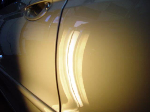 Silver Sedan Dent Removal