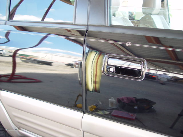 Honda SUV door ding removed